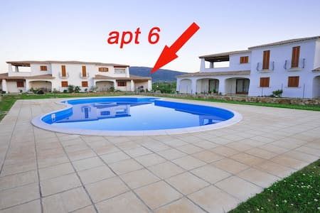 Apt 6, shared pool,500 meters from the beach,A/C - Budoni