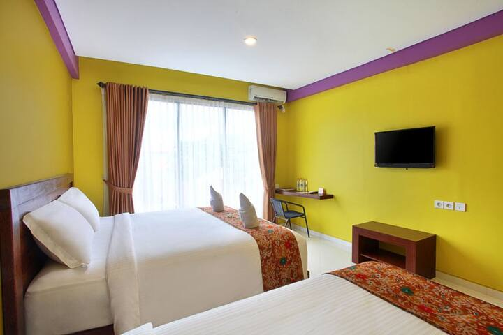 Family bedroom of 4pax at a hotel near to Seminyak