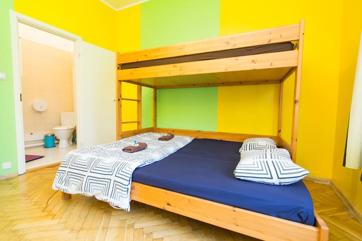 Our double/twin ensuite has a double bunk bed that sleeps up to 3 persons