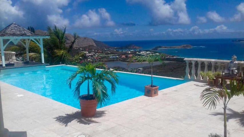 Villa Coralia Ocean view room in hilltop villa.
