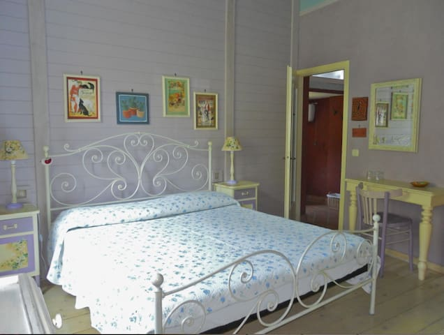 Romantic room in the green Liguria