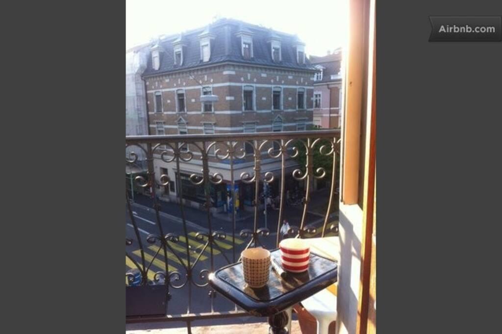 coffe on the balcony