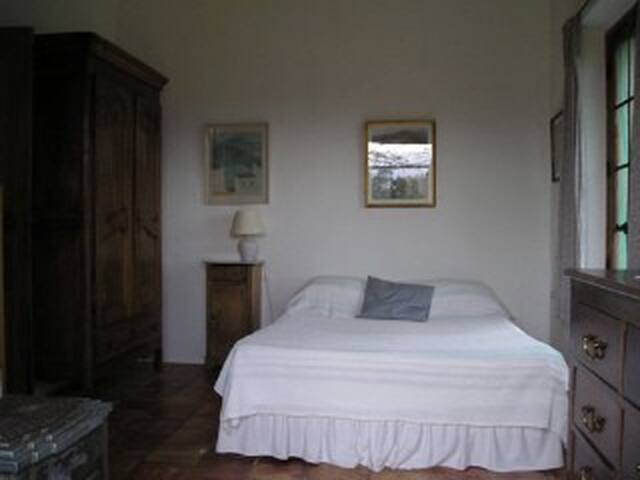 Bedroom 1 (view on pool and rolling hills..