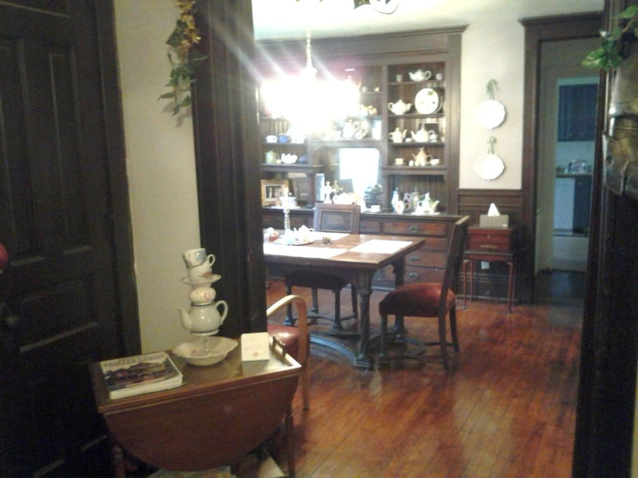 The dining parlor