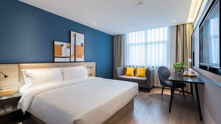 Vyluk•J蔚徕酒店山东国际会展中心豪华大床房