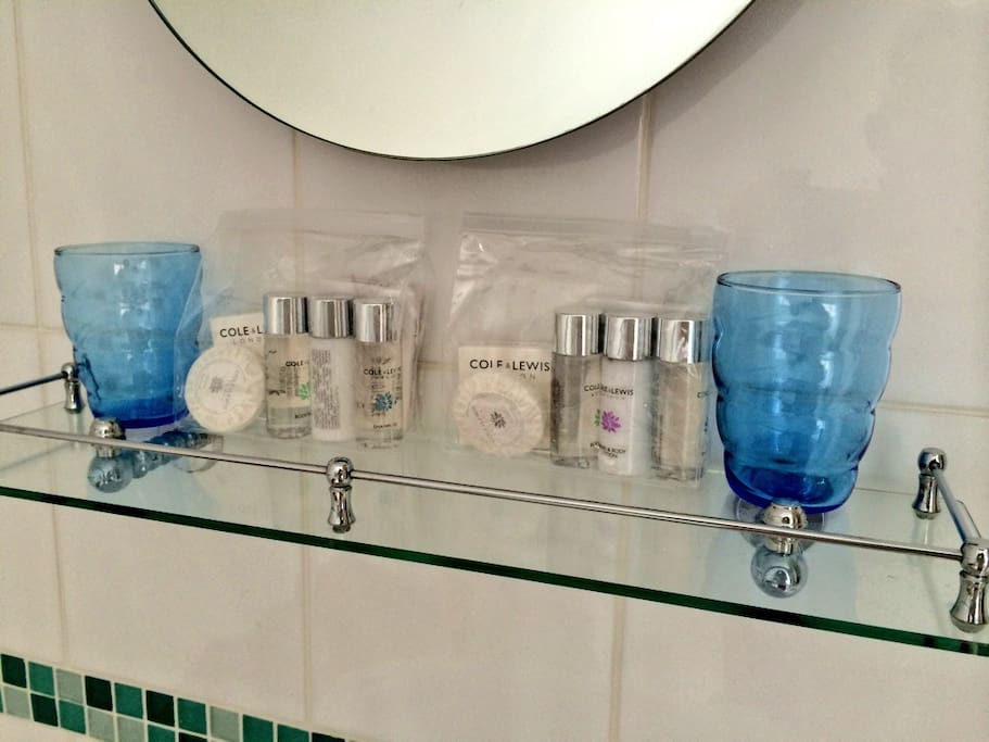Toiletries provided as a little gift from us to you.