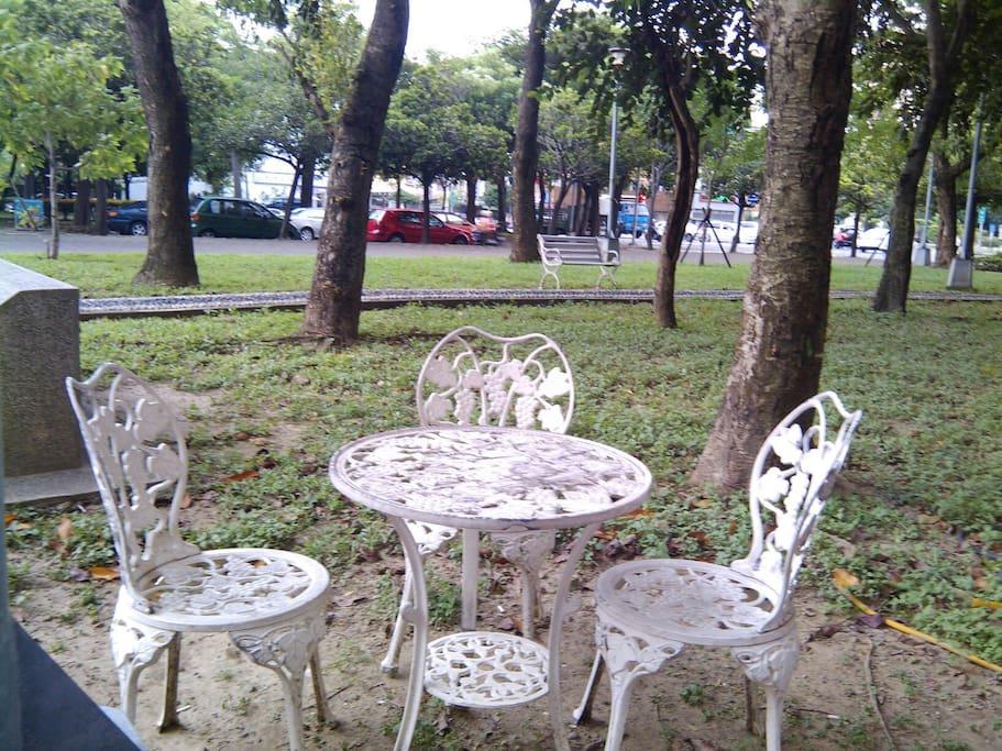 戶外咖啡區