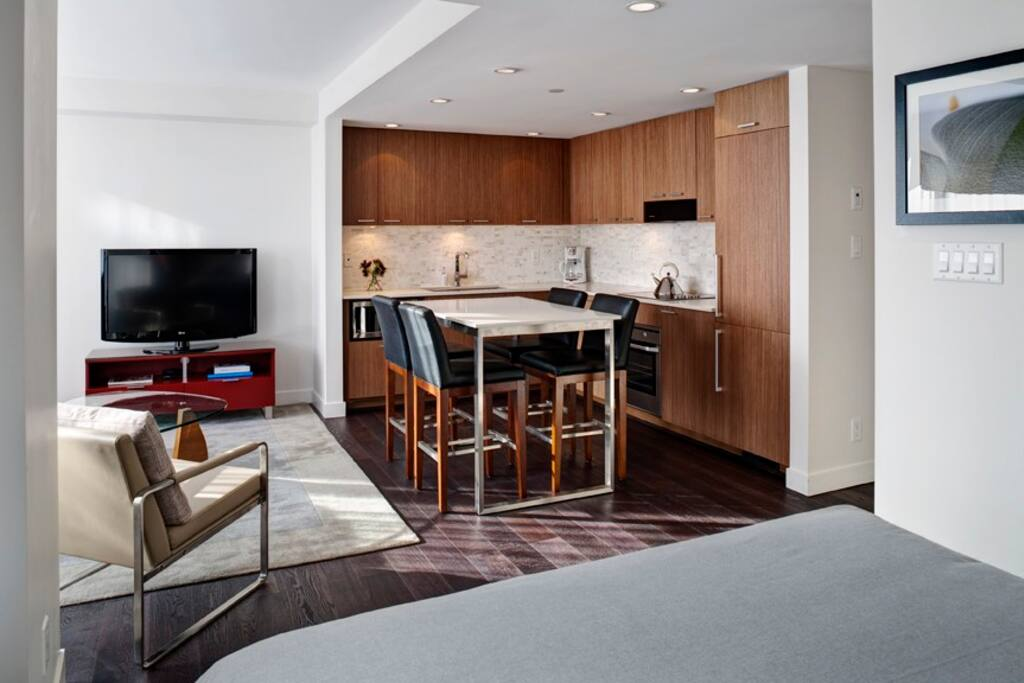 Beautifully designed with all of today's modern amenities including a full kitchen
