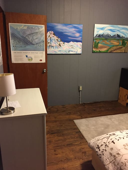 All the artwork are original paintings by your host!
