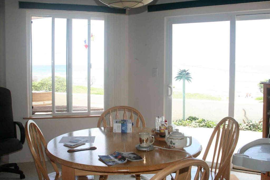 Dining area with full ocean views.