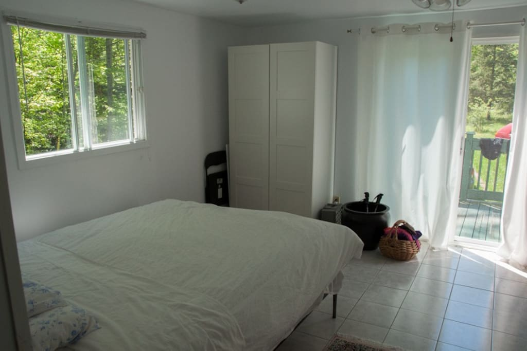 This is the larger of the  two bedrooms