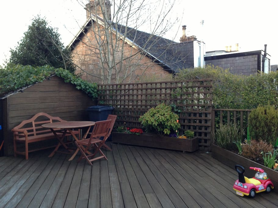 Back decked patio