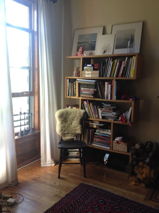 A corner of the living room
