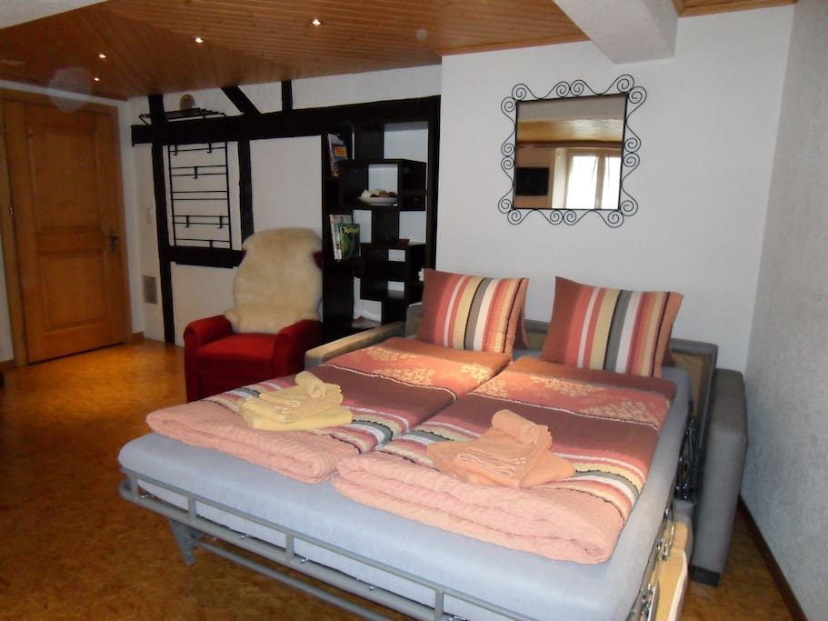 If you are more than two Persons, we have this Sofa-Bed for you!
