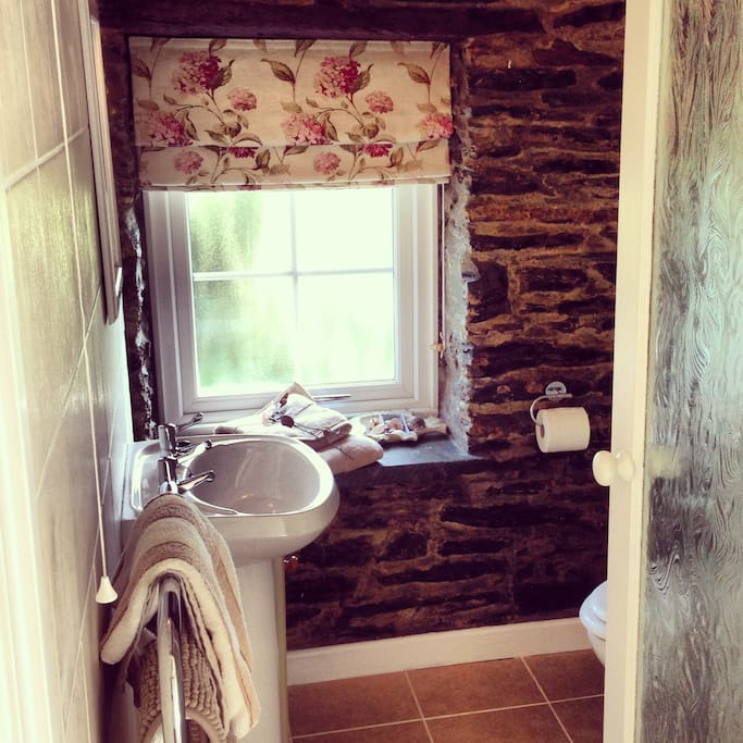 Shower room with high quality soft towels provided.