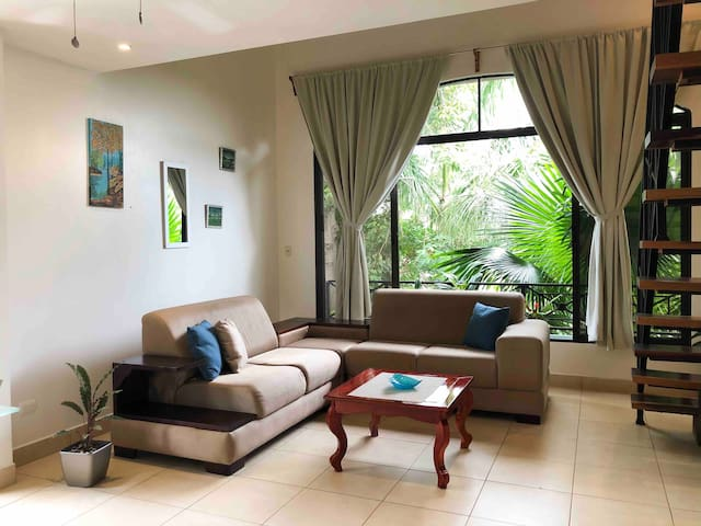 Beautiful apartment, 2 minutes walk from the beach