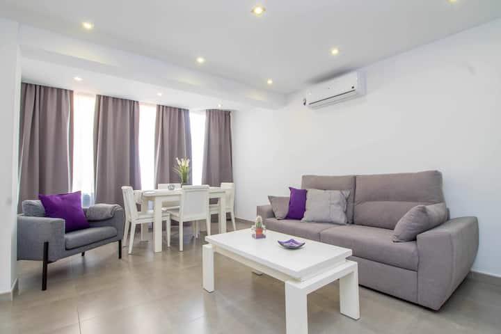 Apartamento 1ª linea playa + WIFI + Sofá cama + Vistas al mar