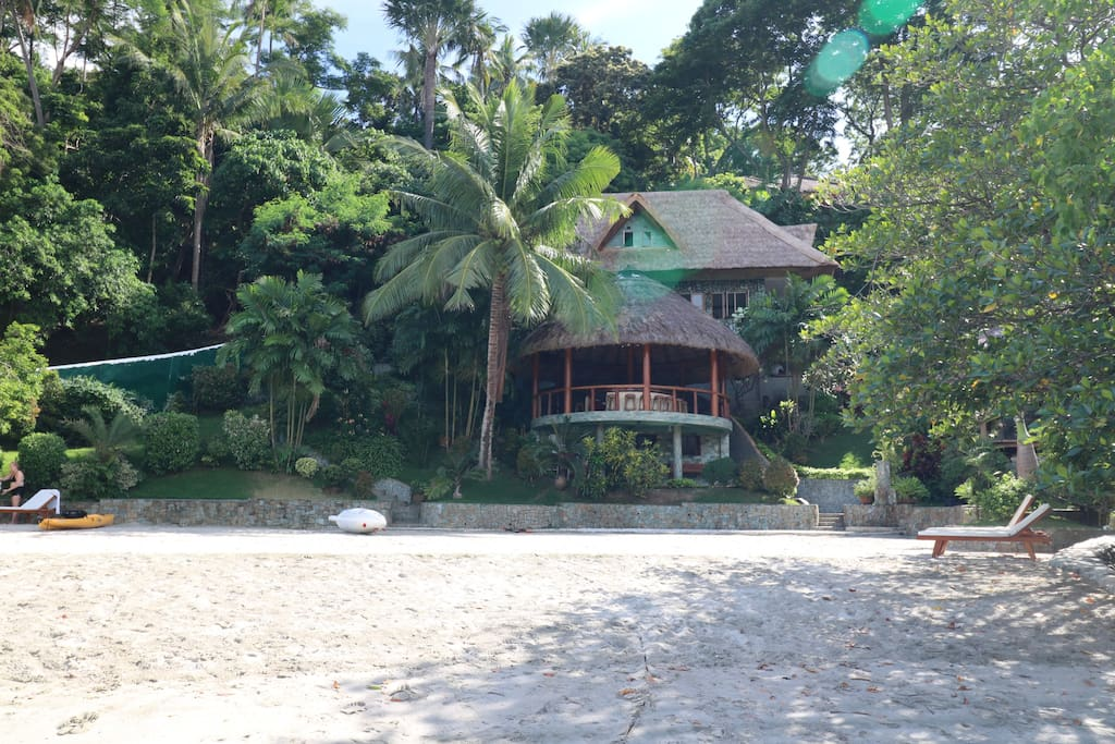 The villa from the beach
