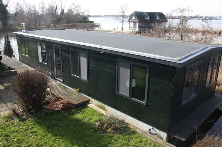 Houseboat 75 m2 at the lake, 25 min from Amsterdam - Aalsmeer - Wohnung