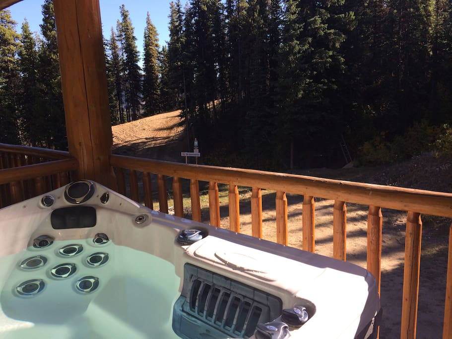View of the strayhorse trail ski run from the hot tub(available during ski season only)