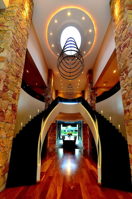 Front entry of this luxurious architect designed house