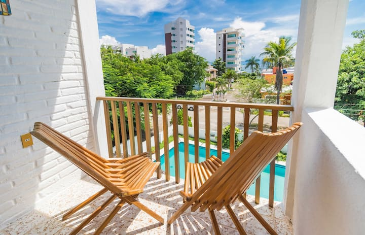 Full Apt in Bucerias with pool 50 mts from beach