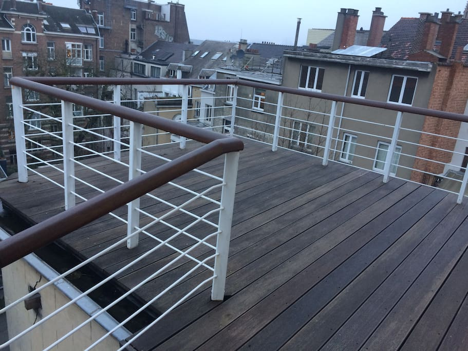 45 m2 balcony with a view