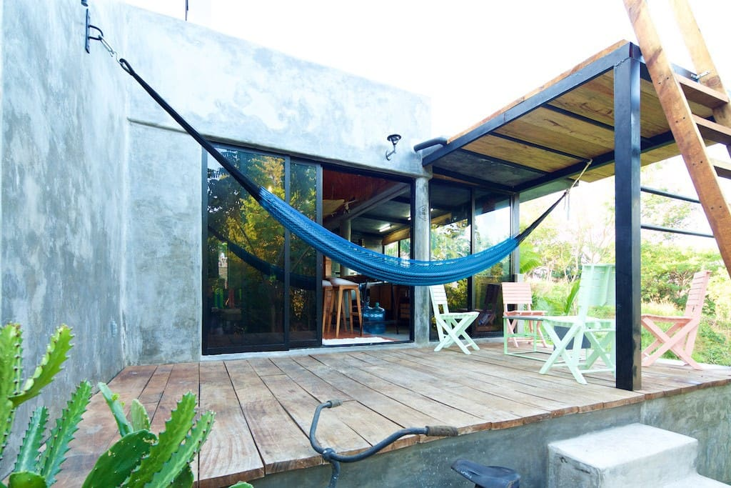 Big hammock, 2 people can fit.