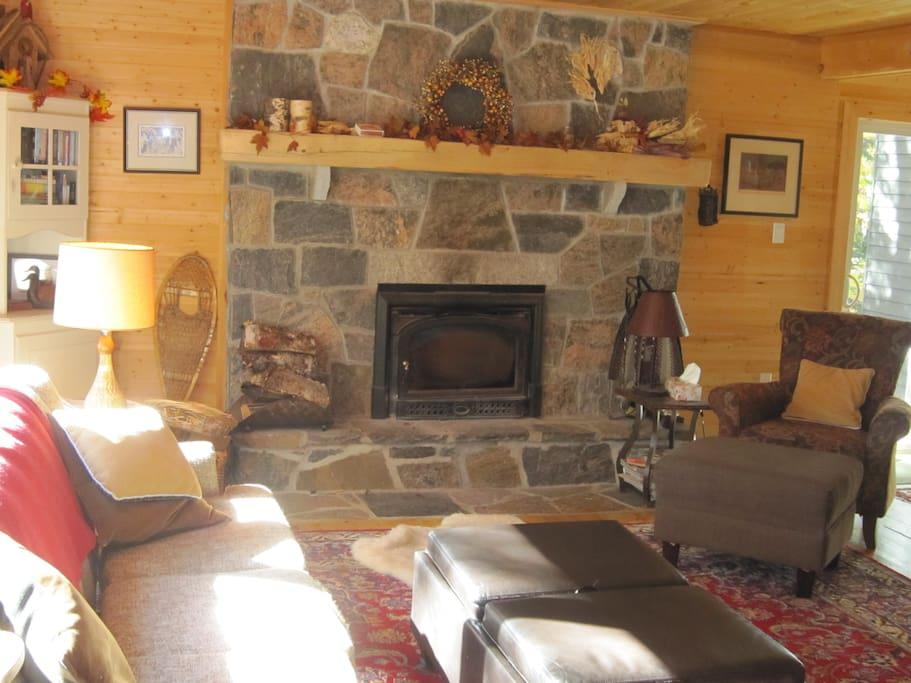 Stunning fireplace.