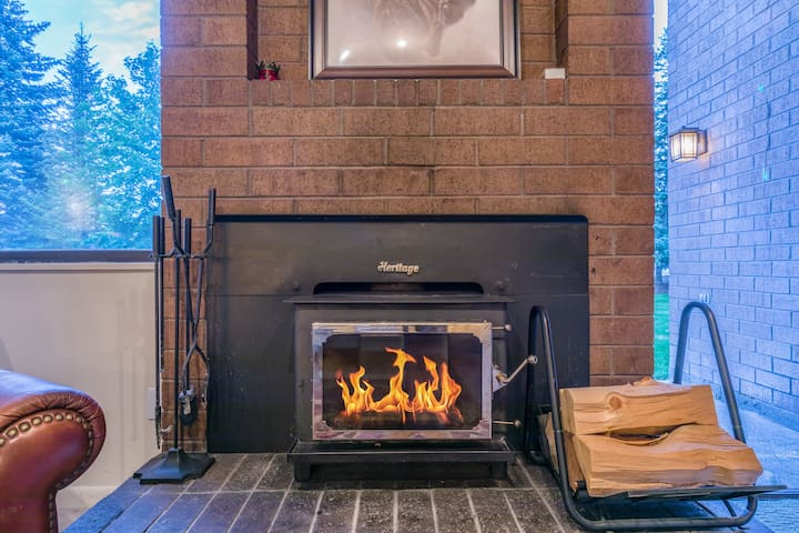 Come cozy up to the units fireplace