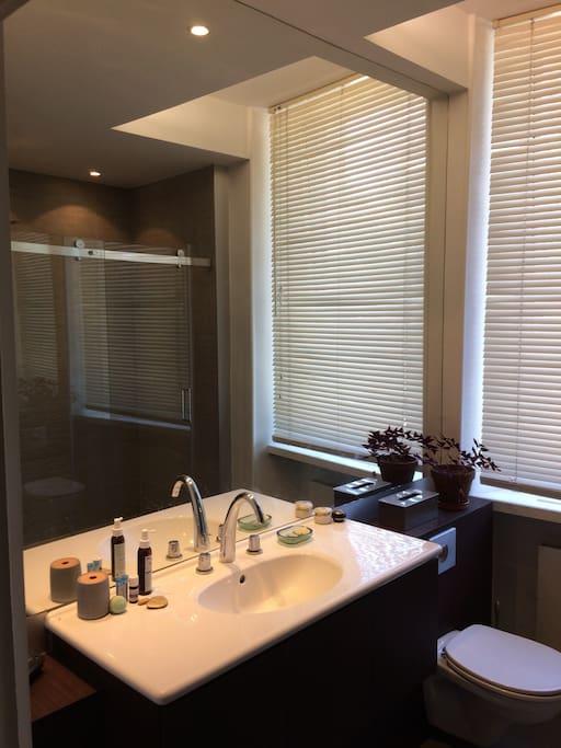 La salle de bain partagée