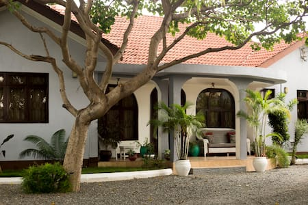 A spacious 2 bedroom bungalow by the Indian Ocean.