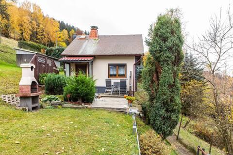 Maison de vacances confortable à Schleusegrun avec jardin