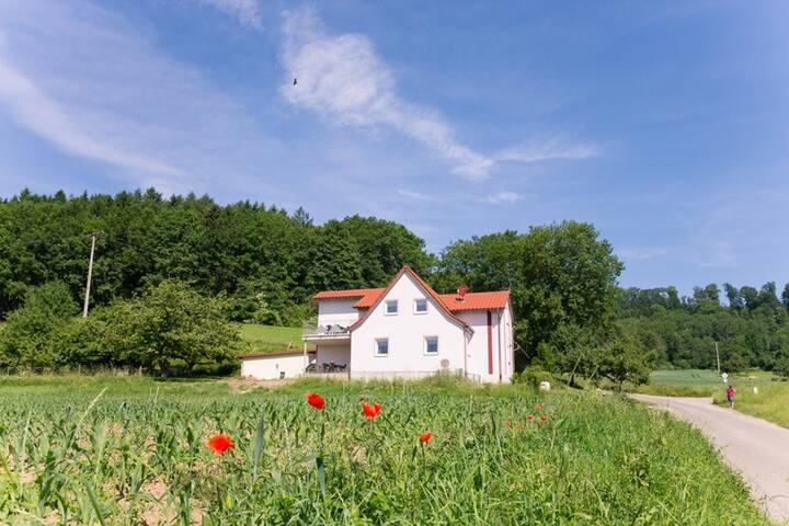 Mayer Burghöfe - Urlaub auf dem Bauernhof (Owingen), Ferienhaus 1
