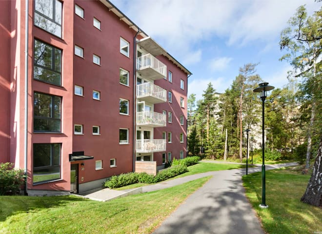 Studio in newly built house, 3 mins from subway - Stockholm - Leilighet