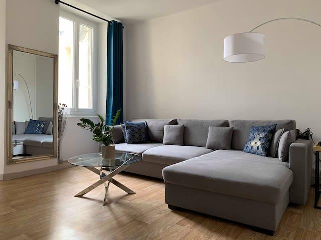 Grand appartement T2, hyper centre st brieuc