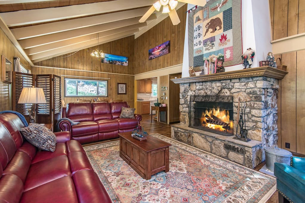 Kick off your boots and warm up by the living room fireplace. Note: guests must bring their own firewood as it is not provided for in the fireplace.