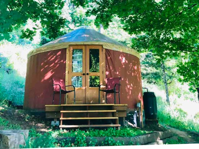 Yurt Meadow Retreat - social distancing gateway!