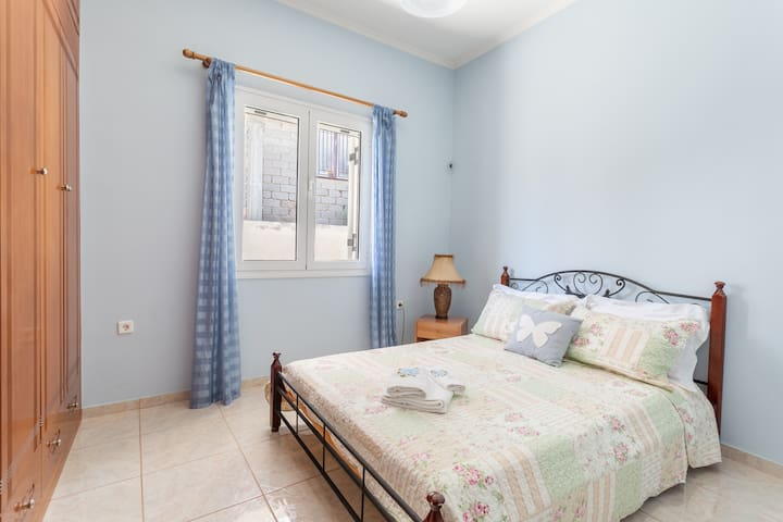 Blue themed double room