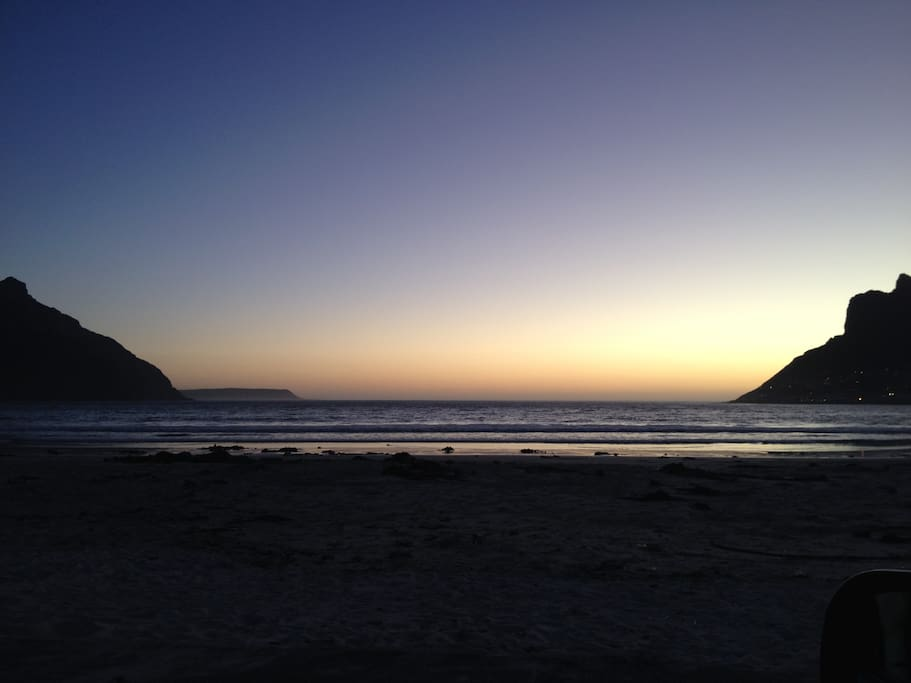 Hout Bay Beach at sunset