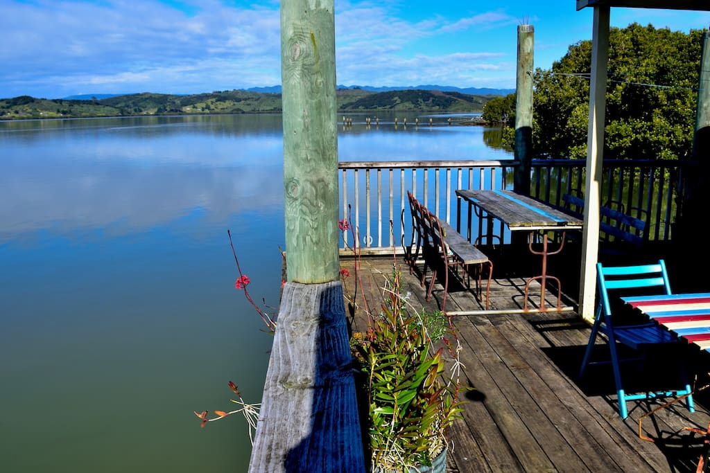 Private deck to relax, swim or fish