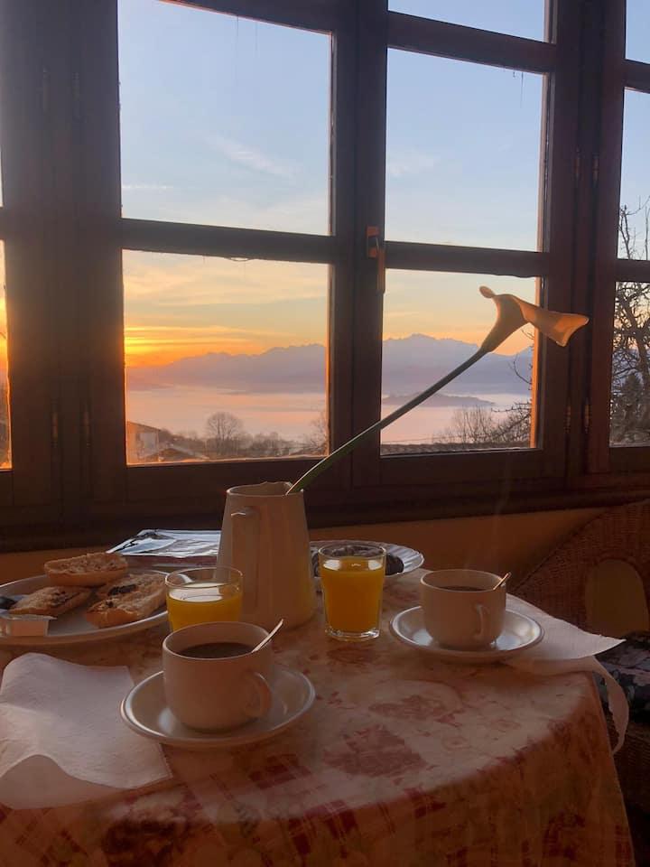 Romántica casa rural  con vistas Picos Europa