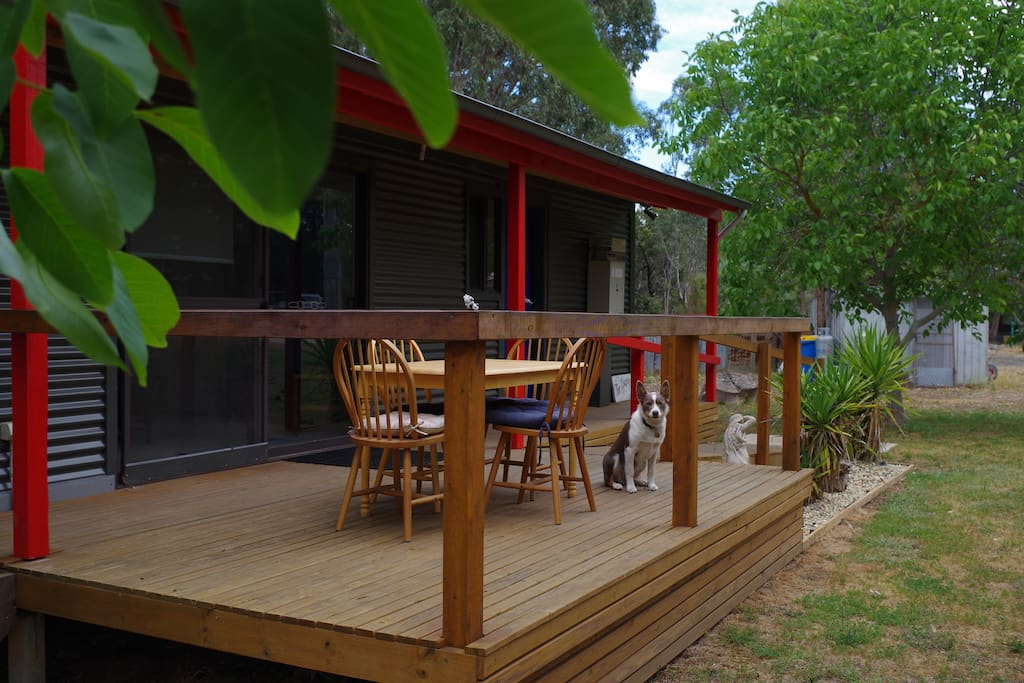 Outside deck with BBQ facility
