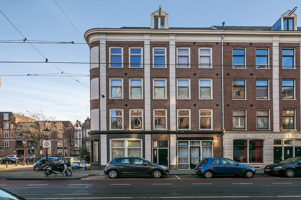 View on the typical Amsterdam house