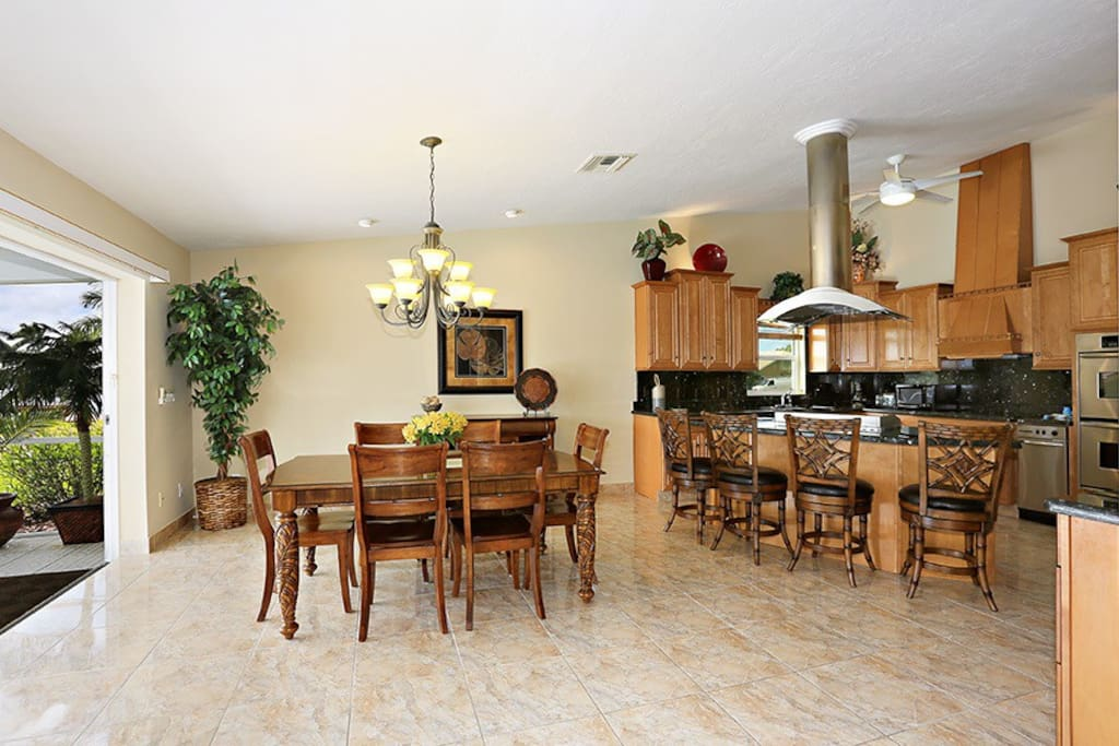 Great room opens to dining area and kitchen