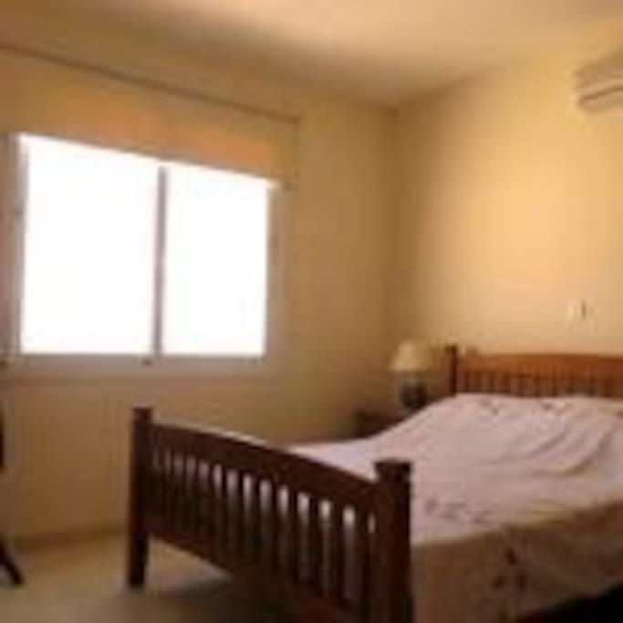 double bedroom with en-suite and air-con