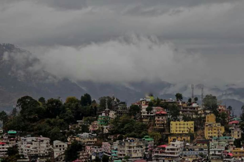 Clouds over the Solan Valley from the Balcony of The Solan Valley View Deluxe Suite.
