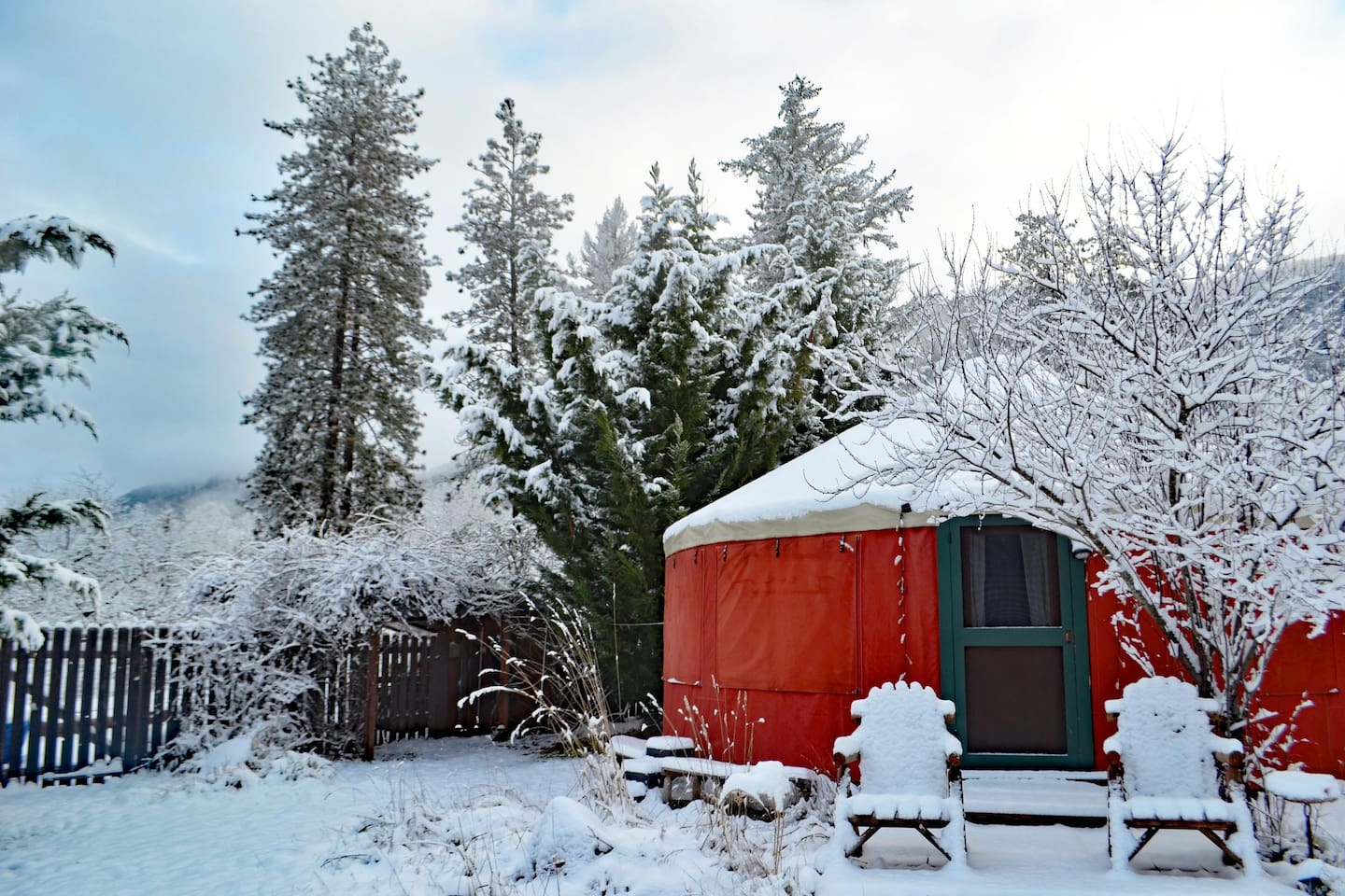 The average cost to stay in this yurt is $82