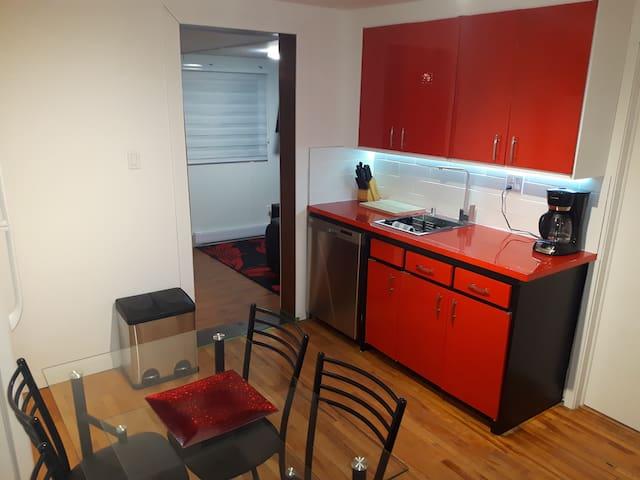 Appartement trois chambres pour équipe de travail