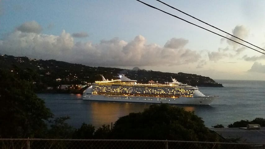Cruise ships coming out of the harbor